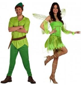 Pareja Peter Pan y Hada Campanilla