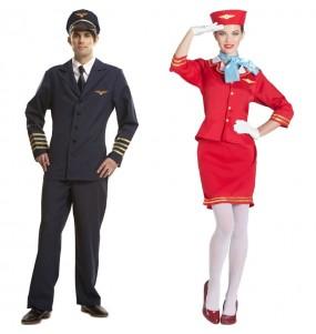 Pareja Pilotos Aviación