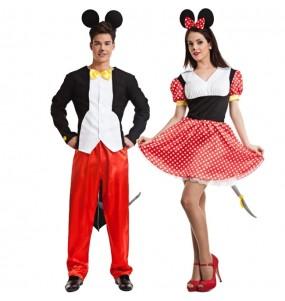 Pareja Ratoncitos Mickey y Minnie Mouse