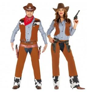 Pareja Vaqueros Rodeo