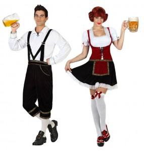 Pareja Alemanes Oktoberfest
