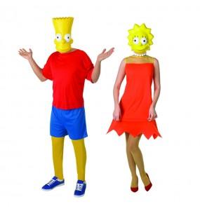 Pareja Bart y Lisa Simpson