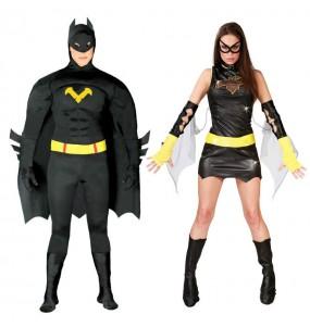 Pareja Batman y Batgirl adulto