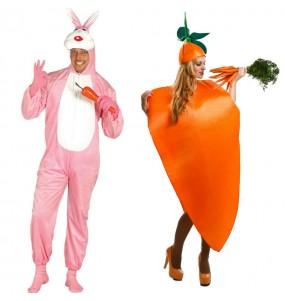 Pareja Conejo y Zanahoria
