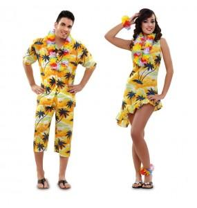 Pareja Hawaianos Amarillos