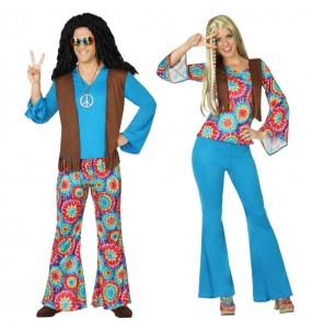 Pareja Hippies Azules