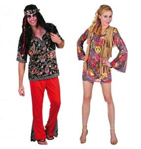 Pareja Disfraces Hippies