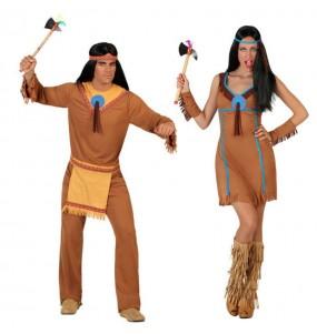 Pareja Indios Marrones