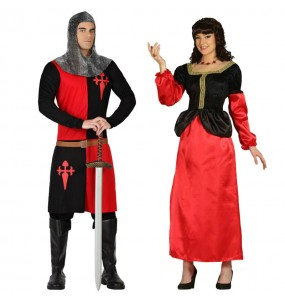 Pareja Medievales Rojos