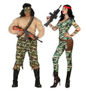 Pareja Militares Rambos
