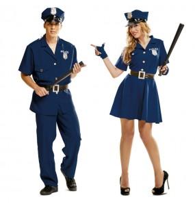 Pareja Policías Azules