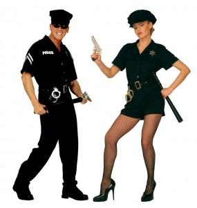 Pareja Disfraces Policias Adulto