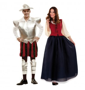 Pareja Disfraces Don Quijote y Dulcinea