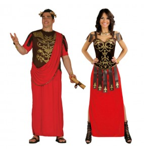 Pareja Senadores Romanos Rojos
