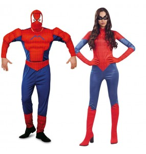 Pareja Spidermans adulto