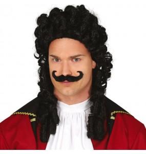 Peluca Capitán Garfio con bigote