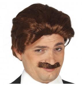Peluca con bigote años 70