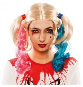 Peluca Coletas Harley Quinn