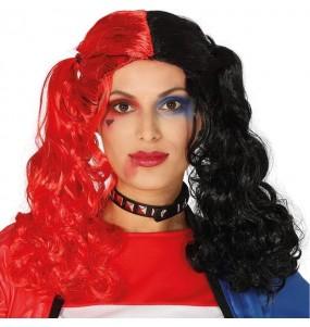 Peluca Harley Quinn Supervillana