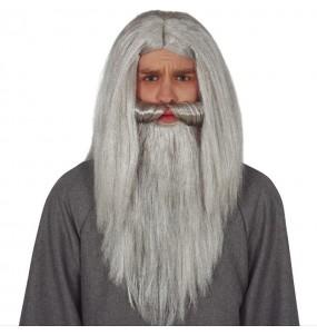 Peluca Mago con barba gris