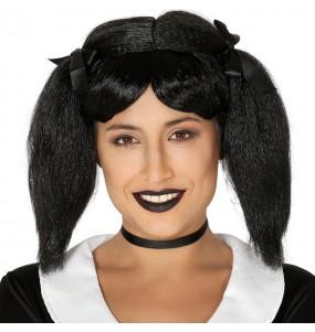 Peluca Miércoles Addams