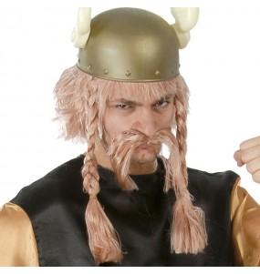 Peluca Asterix con bigote