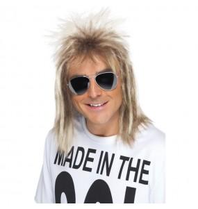 Peluca Mullet años 80