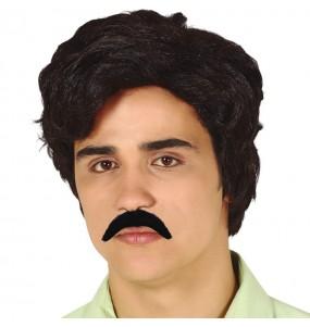 Peluca Pablo Escobar con bigote
