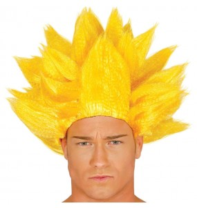 Peluca Son Goku Amarilla