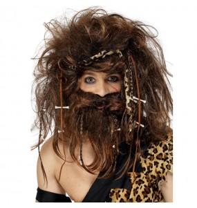 Peluca Troglodita con barba