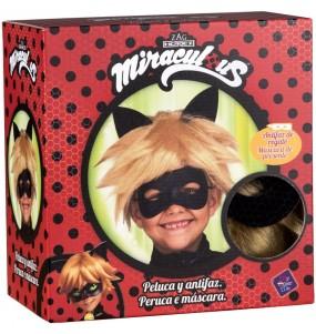 Peluca y Antifaz Cat Noir para niño