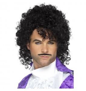Peluca y bigote cantante Prince