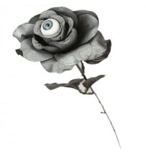 Rosa Gris Halloween con ojo