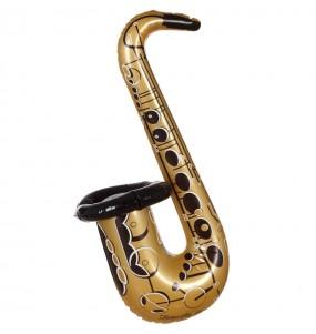 Saxofón Hinchable Dorado