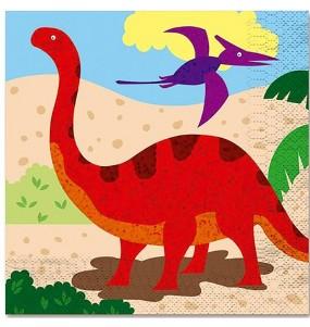 Servilletas de Dinosaurio de 33 cm