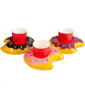 Set Posavasos donut hinchable