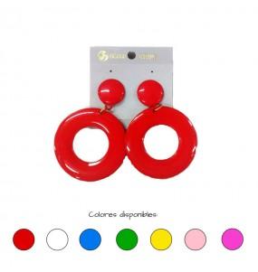 pendientes de sevillana colores