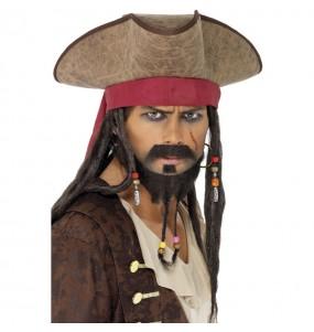 Sombrero con Peluca Pirata Jack Sparrow