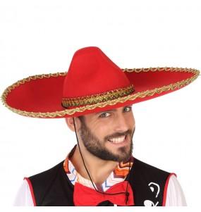 Sombrero Mexicano Mariachi Rojo