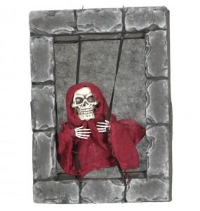 Ventana con Esqueleto decoración