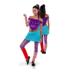 disfraz stardance lila años 80 mujer adulto
