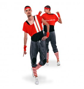 disfraz stardance rojo años 80 hombre adulto