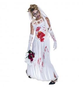 disfraz novia cadáver zombie adulto