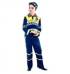 disfraz policía local niño infantil