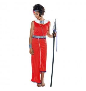 disfraz guerrera masai adulto