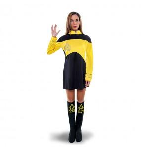 disfraz star trek amarillo mujer adulto