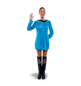 disfraz star trek azul mujer adulto