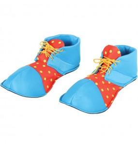 Zapatos Payaso Azules y Rojos