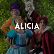 Catálogo de disfraces del cuento Alicia en el país de las maravillas para niños, niñas, hombres y mujeres