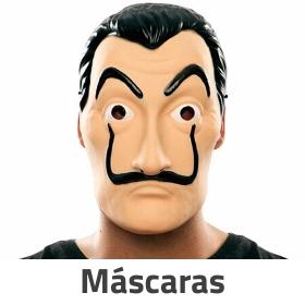 Máscaras de carnaval y caretas para disfrazarse